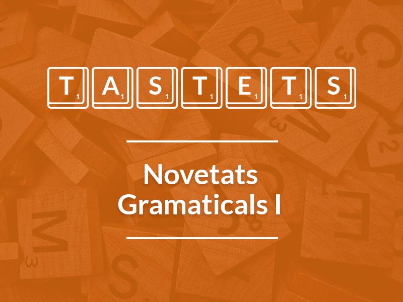 Novetats Gramaticals (I)