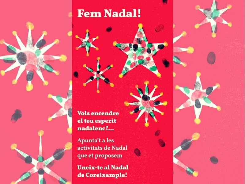 Programa d'activitats de Nadal de Coreixample #FemBarriFemNadal