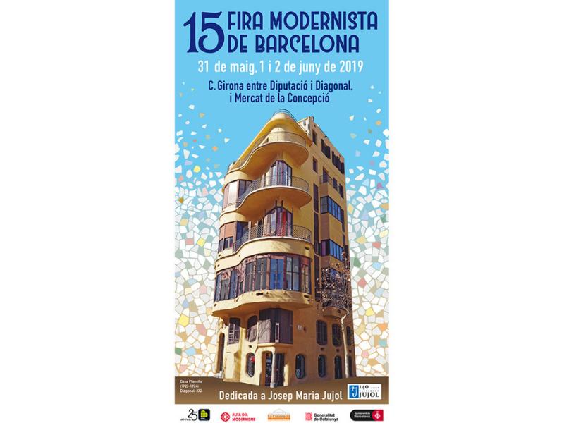 Cartell i Programa de la 15 Fira Modernista de Barcelona