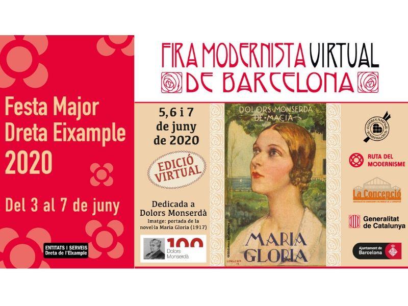 Feria Modernista Virtual de Barcelona y Fiesta Derecha Eixample