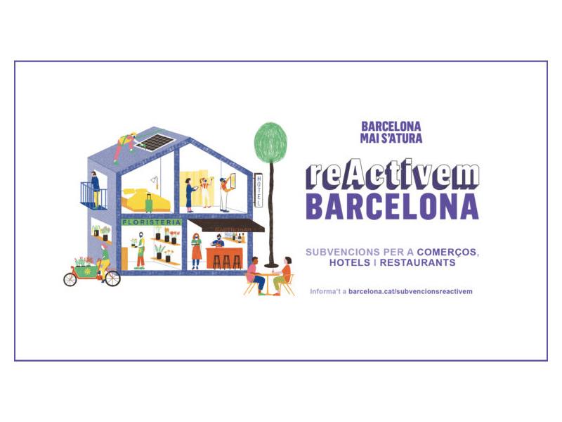 """""""ReActivem Barcelona"""" amb ajuts al comerç, la restauració i els allotjaments turístics"""