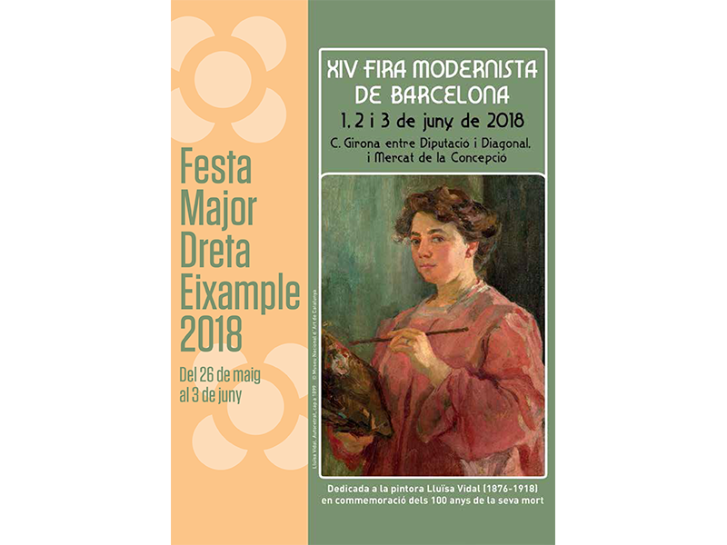 Programa de Festa Major y 14a Fira Modernista 2018